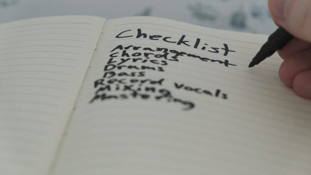 Making checklists will help you thrive and keep the beat block far away
